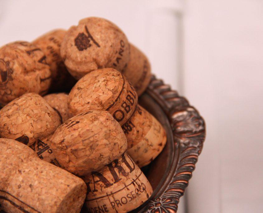 Corks from various Conegliano Valdobbiadene bottles from London masterclass